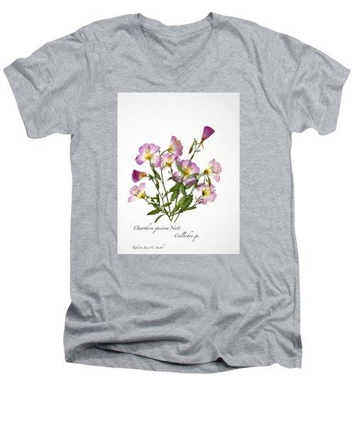 Wine-cup And Primrose Men's V-Neck T-Shirt