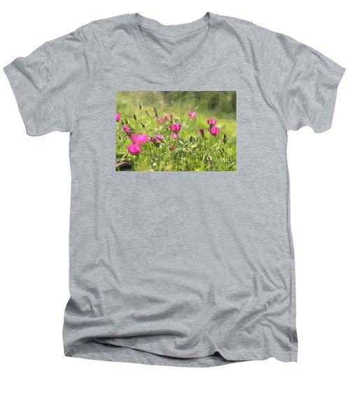 Wine Cups Men's V-Neck T-Shirt