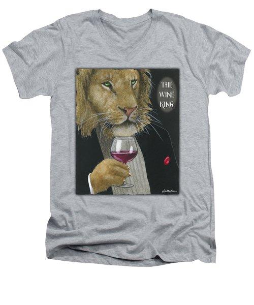 Wine King... Men's V-Neck T-Shirt