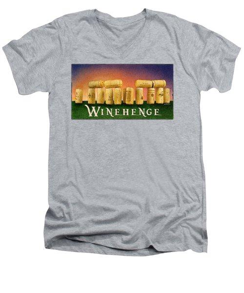 Winehenge Men's V-Neck T-Shirt by Will Bullas