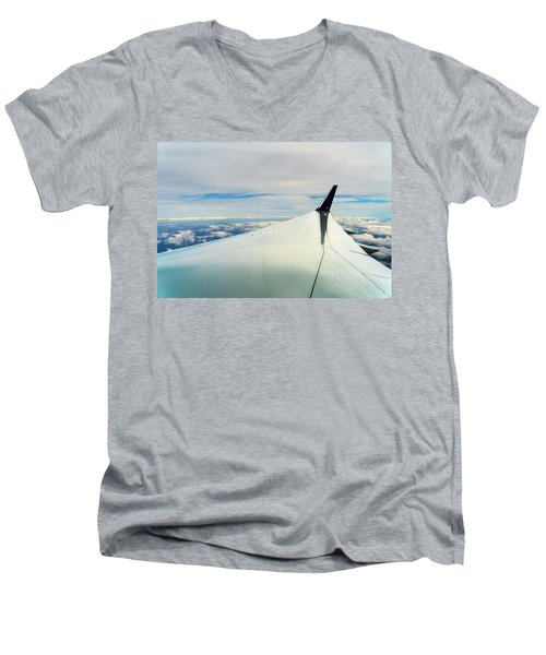 Wing And Clouds Men's V-Neck T-Shirt
