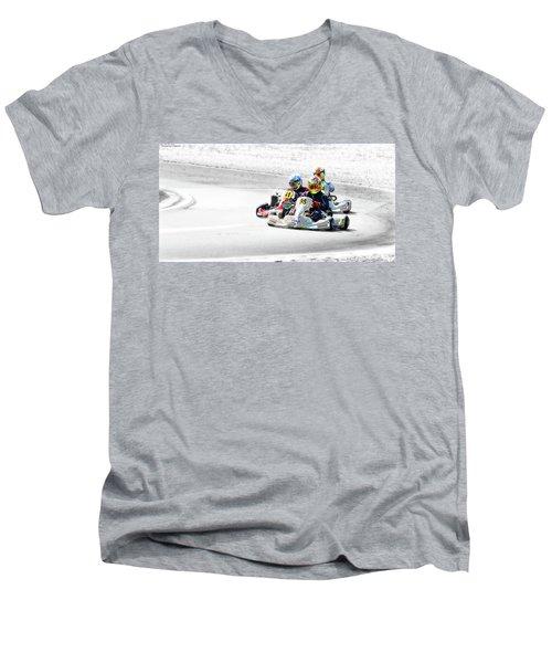 Wingham Go Karts 04 Men's V-Neck T-Shirt by Kevin Chippindall