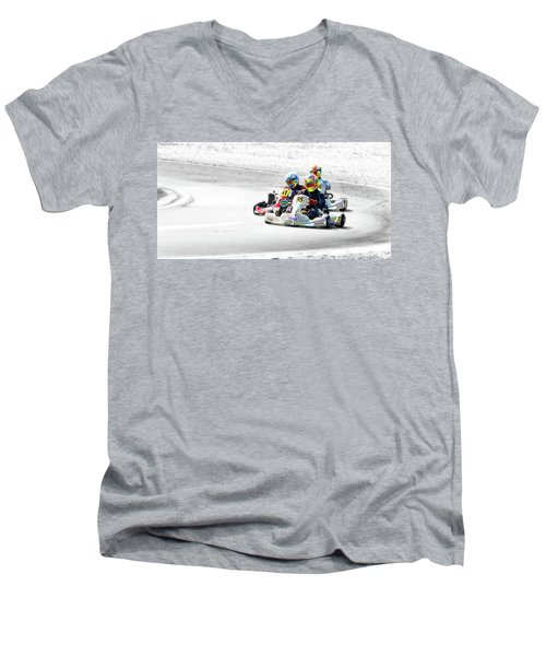 Wingham Go Karts 04 Men's V-Neck T-Shirt