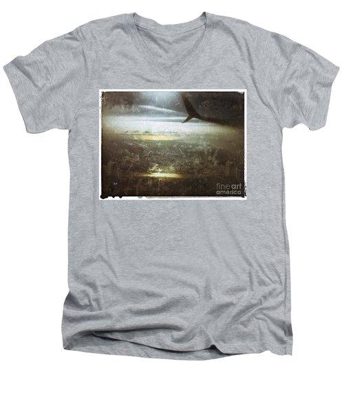Winging It Men's V-Neck T-Shirt by Jason Nicholas