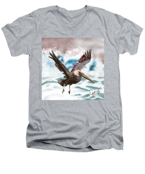 Wings IIi Men's V-Neck T-Shirt