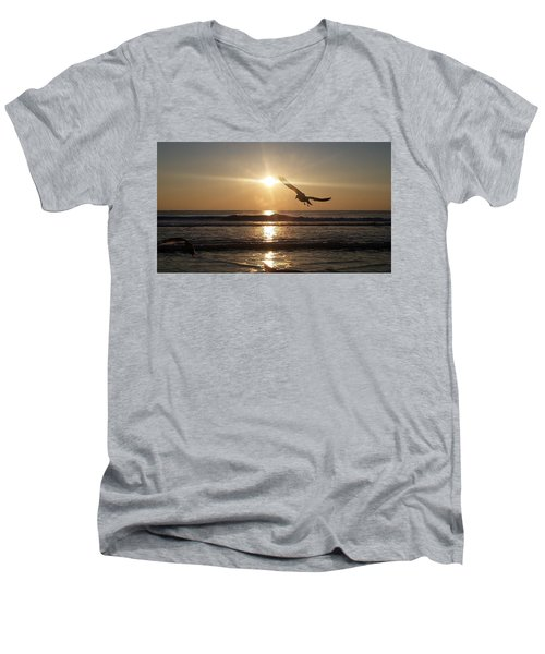 Wings Of Sunrise Men's V-Neck T-Shirt