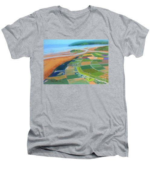 Wings Over Grand Pre' Men's V-Neck T-Shirt by Rae  Smith