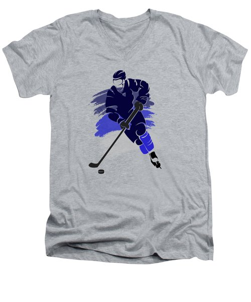Winnipeg Jets Player Shirt Men's V-Neck T-Shirt by Joe Hamilton
