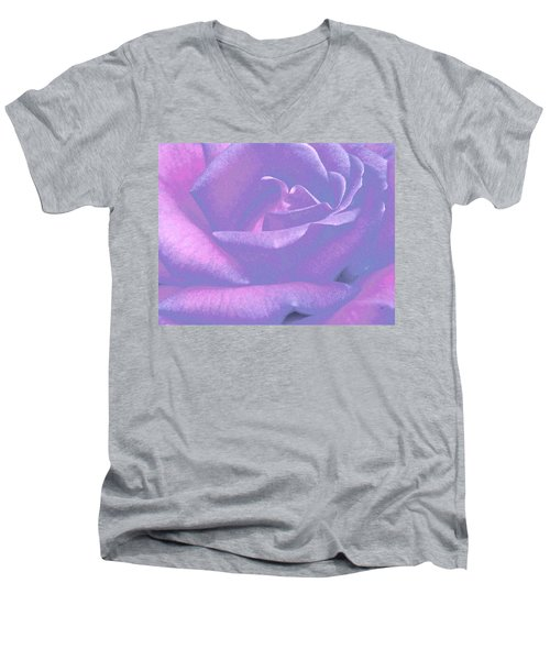 Winsome Rose 1 Men's V-Neck T-Shirt by Will Borden
