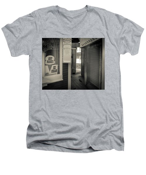 Winter At Aunt Marie's Ice Cream Stand Men's V-Neck T-Shirt