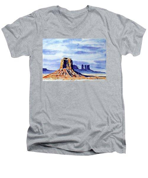 Winter At Merrick Butte Men's V-Neck T-Shirt