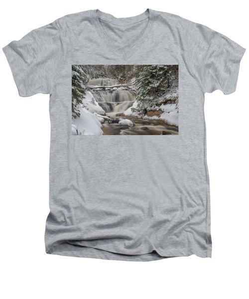 Winter At Sable Falls Men's V-Neck T-Shirt