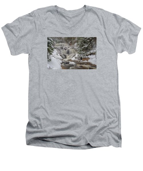 Winter At Sable Falls Men's V-Neck T-Shirt