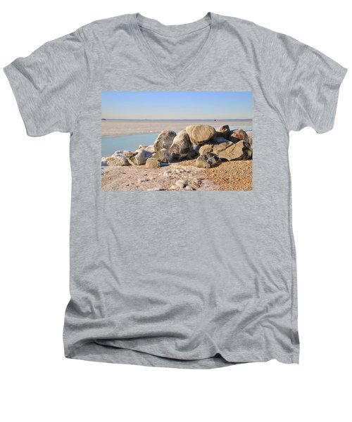Winter At The Beach Men's V-Neck T-Shirt