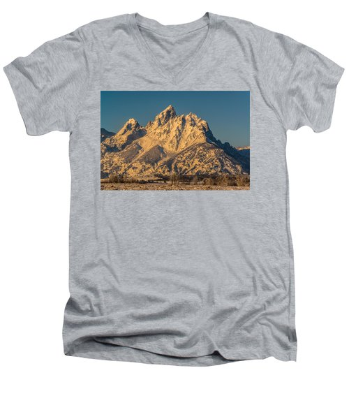 Winter At The Grand Men's V-Neck T-Shirt by Yeates Photography