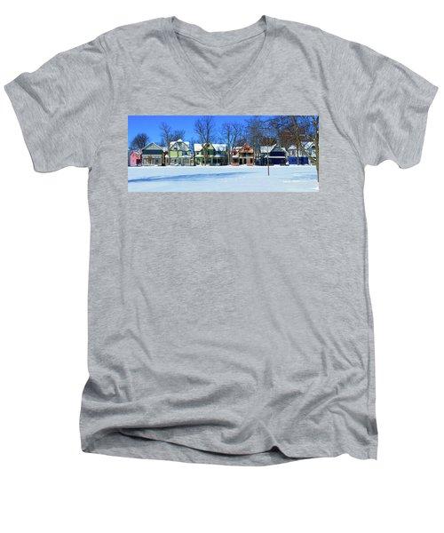 Winter At Ti Park Men's V-Neck T-Shirt