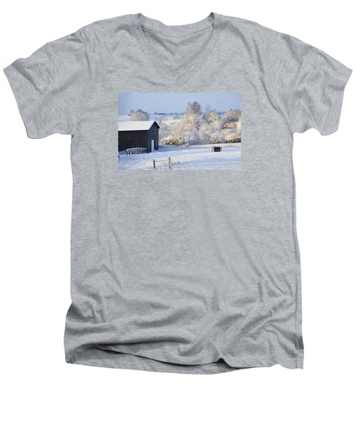 Winter Barn 1 Men's V-Neck T-Shirt