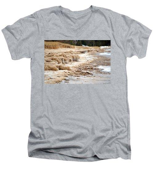 Winter Beach Men's V-Neck T-Shirt