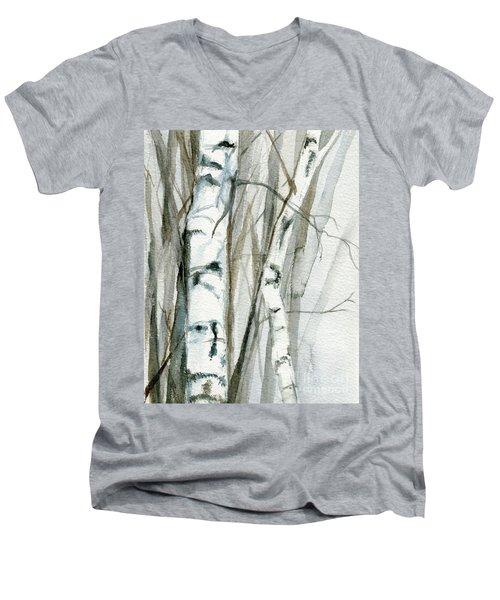 Winter Birch Men's V-Neck T-Shirt