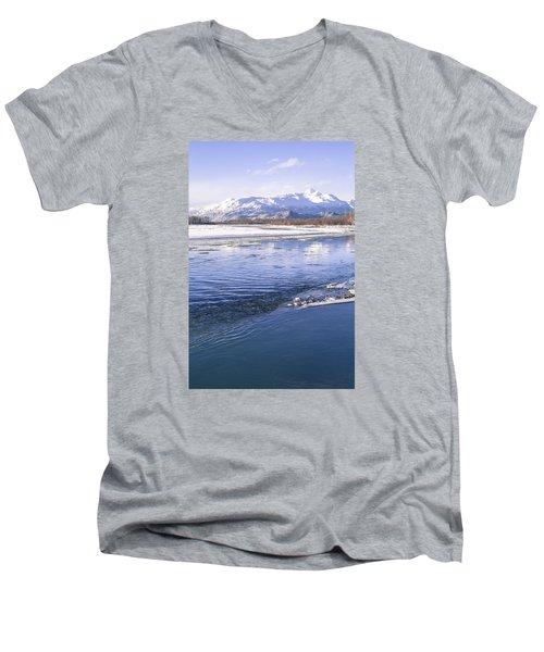 Winter Blues Men's V-Neck T-Shirt by Michele Cornelius