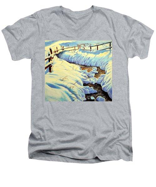 Winter Brook Men's V-Neck T-Shirt