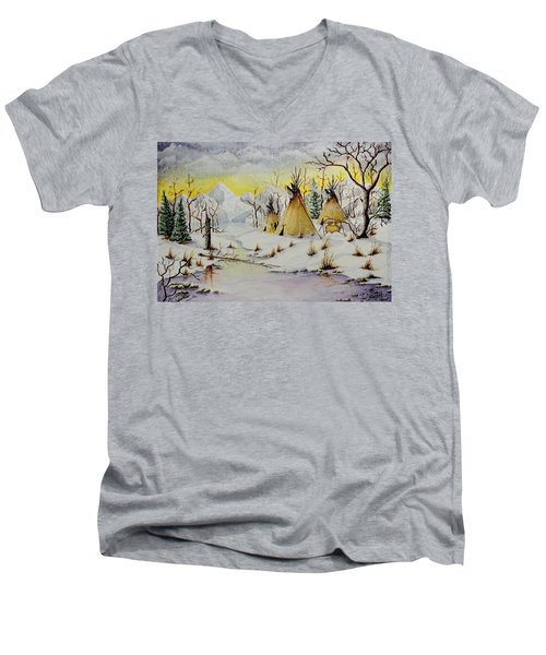 Winter Camp Men's V-Neck T-Shirt