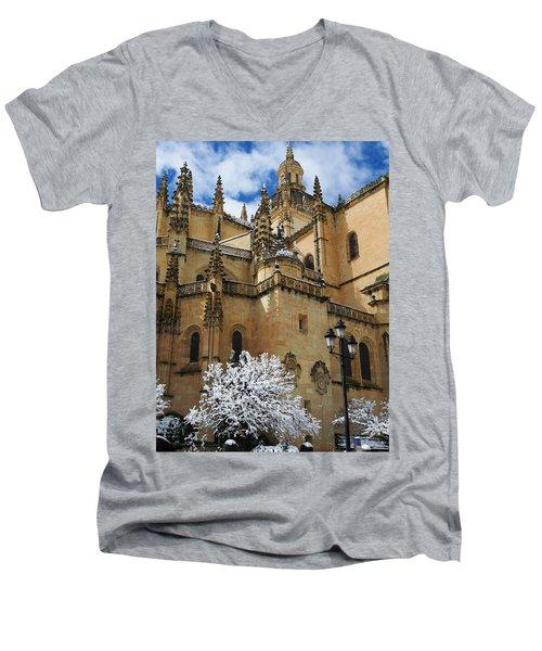 Winter Cathedral Men's V-Neck T-Shirt