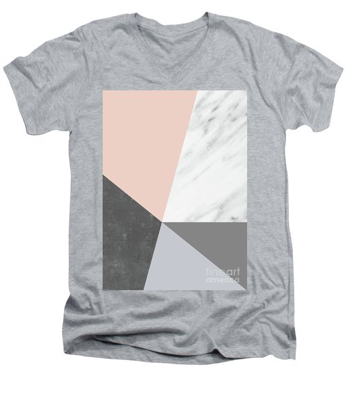 Winter Colors Collage Men's V-Neck T-Shirt