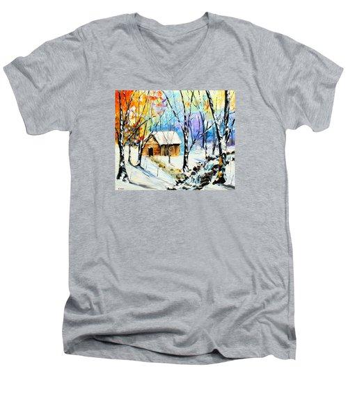 Winter Colors Men's V-Neck T-Shirt