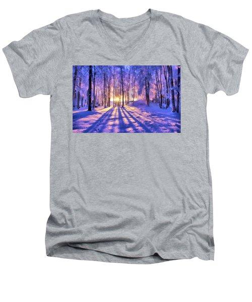 Winter Fairy Tale Men's V-Neck T-Shirt