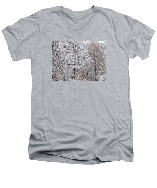 Winter Fantasy Men's V-Neck T-Shirt by Craig Walters