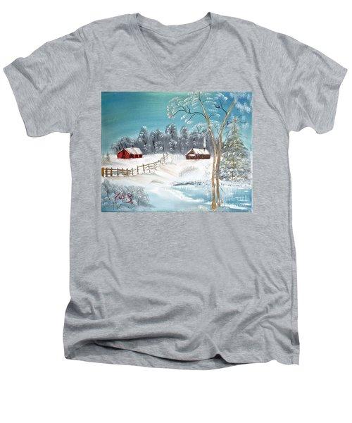 Winter Farm Men's V-Neck T-Shirt