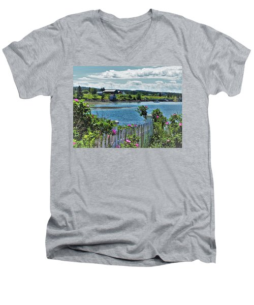 Winter Harbor Men's V-Neck T-Shirt