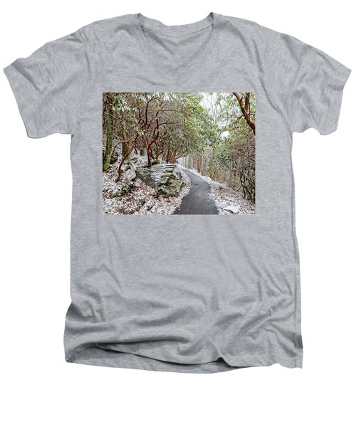 Winter Hiking Trail Men's V-Neck T-Shirt