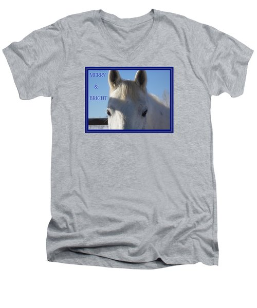 Winter Horse Christmas Men's V-Neck T-Shirt