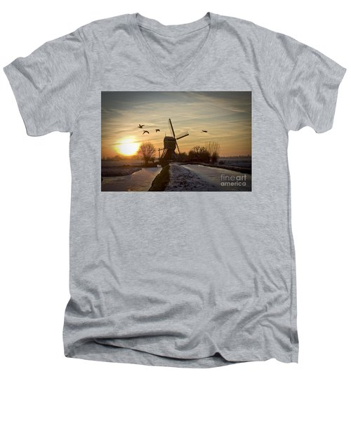 Winter In Holland-2 Men's V-Neck T-Shirt