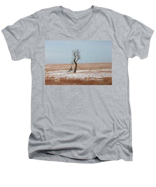Winter In Kansas Men's V-Neck T-Shirt
