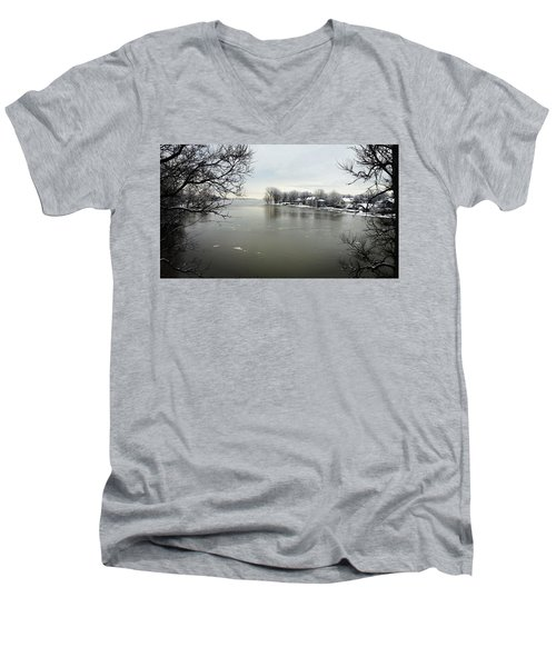 Winter In Quebec Men's V-Neck T-Shirt