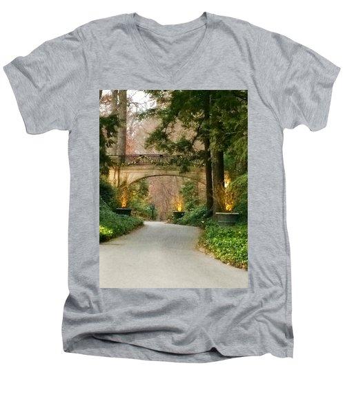 Winter In The Garden Men's V-Neck T-Shirt by Robin Regan