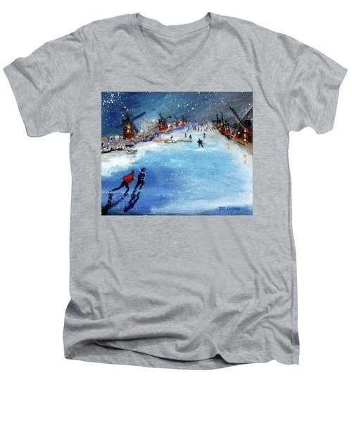 Winter In The Netherlands Men's V-Neck T-Shirt