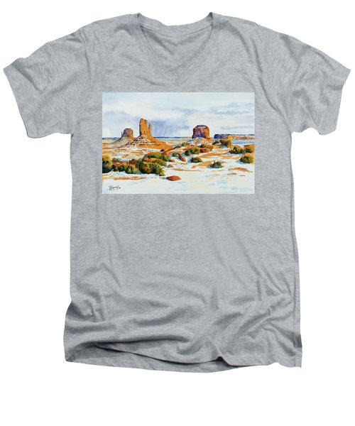 Winter In The Valley Men's V-Neck T-Shirt
