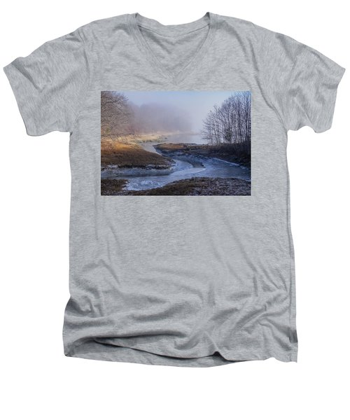 Winter Inlet Men's V-Neck T-Shirt