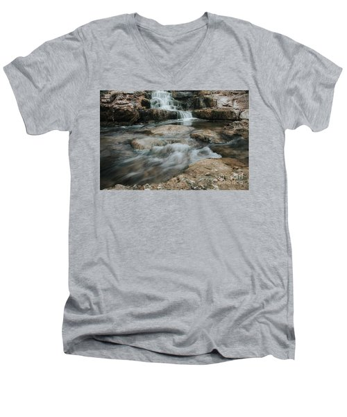 Winter Inthe Falls Men's V-Neck T-Shirt by Iris Greenwell