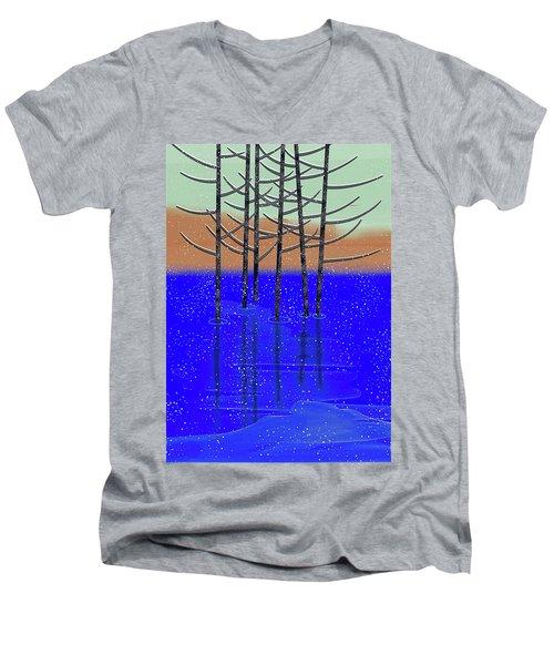 Winter Lake Men's V-Neck T-Shirt