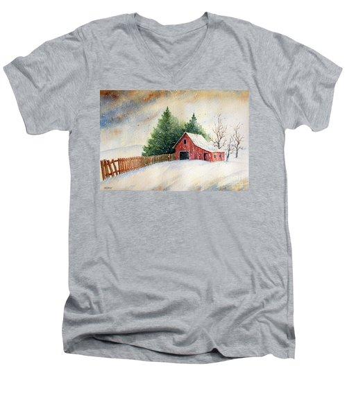 Winter Landscape IIi Men's V-Neck T-Shirt