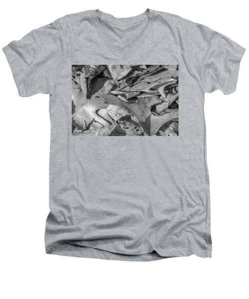 Winter Leaves Men's V-Neck T-Shirt