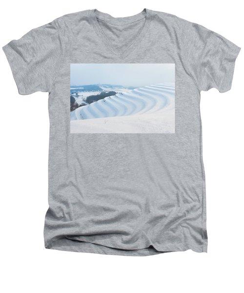 Winter Lines Men's V-Neck T-Shirt