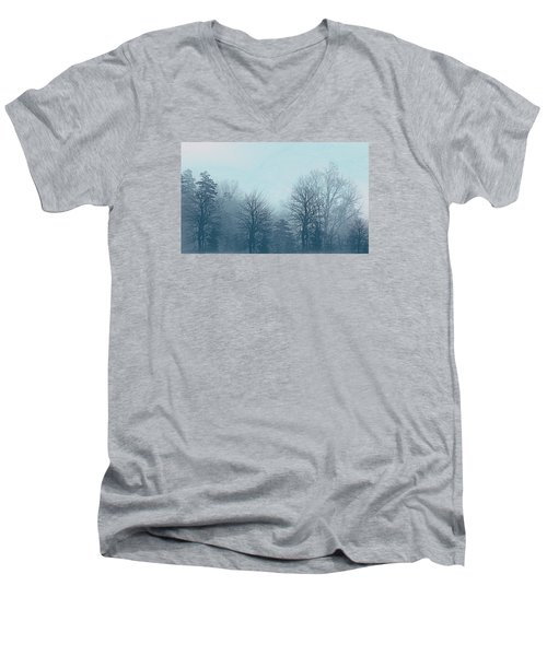 Winter Morning Men's V-Neck T-Shirt by Milena Ilieva