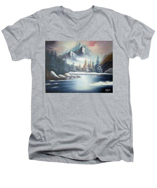 Winter Mountain Men's V-Neck T-Shirt