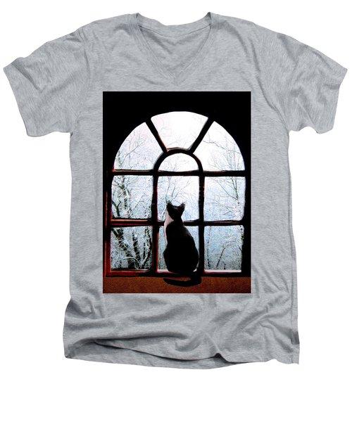 Winter Musing Men's V-Neck T-Shirt